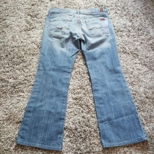 7 for all man kind light wash flare jeans